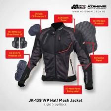 Komine JK-139 Waterproof Half Mesh Jacket