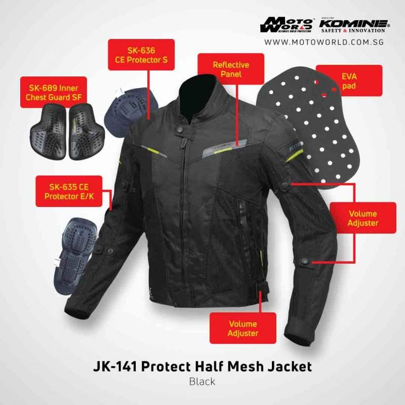 Komine JK-141 Protect Half Mesh Jacket
