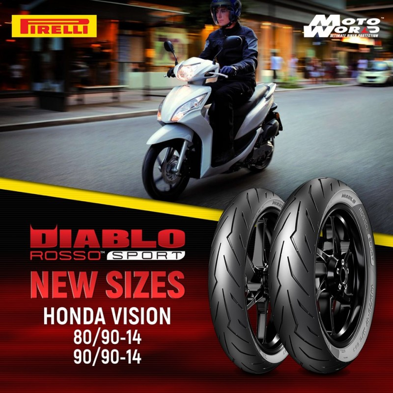 "Vỏ Pirelli Diablo Rosso Sport - Scooter 14"""
