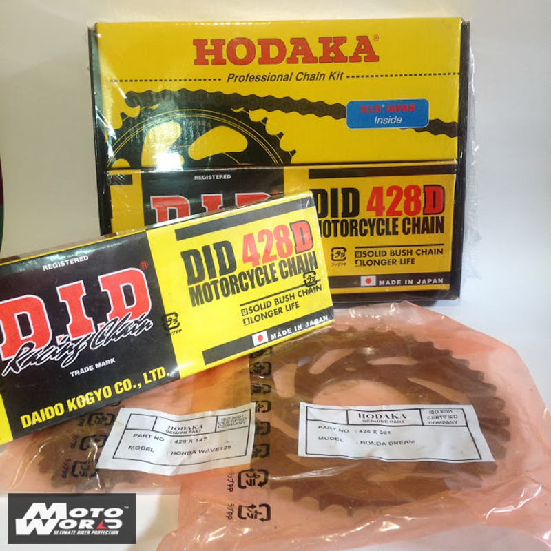 HODAKA - D.I.D Sprockets & Chain HONDA WAVE