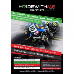 Ridewithme Trackday 12th January 2019 Saturday 9AM to 5PM