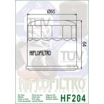 Hiflo Oil Filter HF 204 for Honda/ Kawasaki/ Yamaha/ Triumph