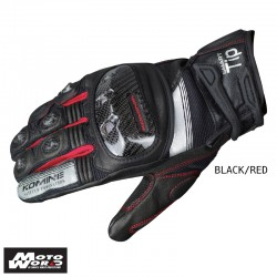 Komine GK 193 Protect Leather Mesh Gloves Guren