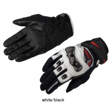Komine GK-224 Carbon Protect Leather Mesh Gloves