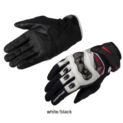 Komine GK 224 Carbon Protect Leather Mesh Gloves