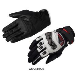 Komine GK 224 Carbon Protect Leather Mesh Gloves