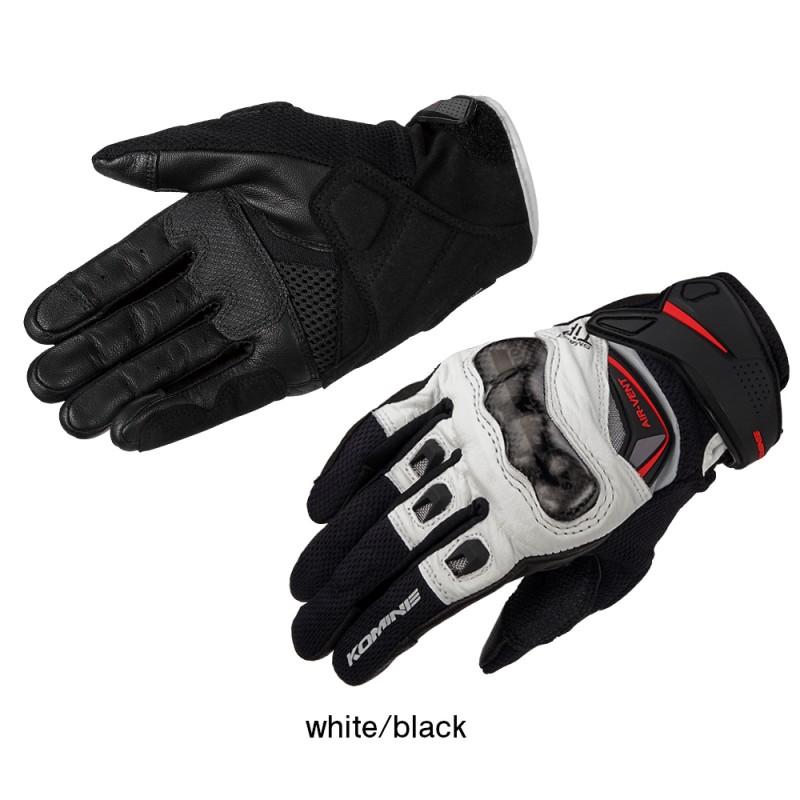 Komine GK-224 Carbon Protect Leather Mesh Gloves
