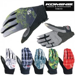 Komine GK 147 Protect Mesh Gloves Graphic