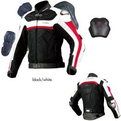 Komine JK 061 Leather Mesh Jacket Titanite