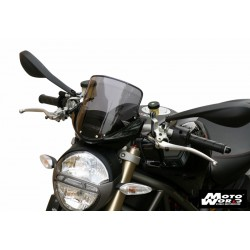 MRA Touring Windscreen T for DUCATI Monster 696/796/1100 - Smoke Grey