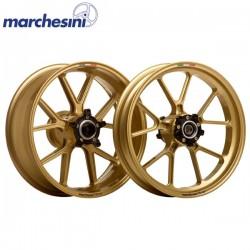 MARCHESINI Forged Aluminum M10R Gold KAWASAKI Ninja 250R/ 300 08-12 - Front Wheel