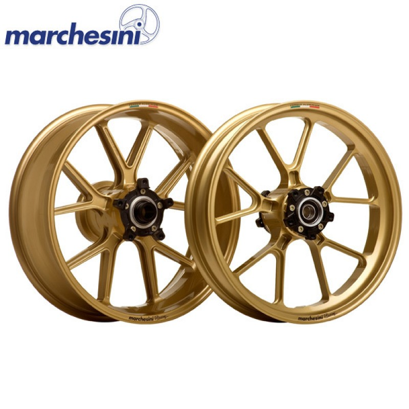 MARCHESINI Forged Aluminum M10RS Gold KAWASAKI Ninja 250R/ 300 08-12 - Rear Wheel