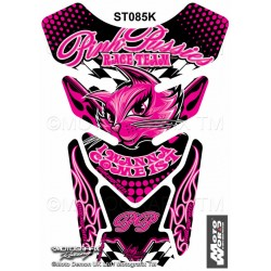 MOTOGRAFIX Tank Pad Protector 3D Gel Pink Pussies I Wanna Come First Black/Pink