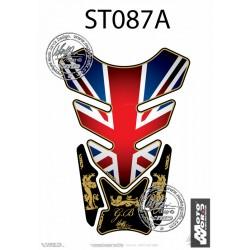 MOTOGRAFIX Tank Pad Protector 3D Gel Great Britain - Union Jack Style
