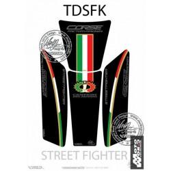 MOTOGRAFIX Black Triclour Tank Pad Protector 3D Gel DUCATI Streetfighter 2009 Black Italia Style
