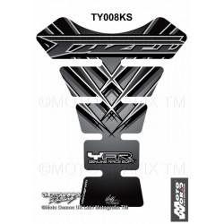 MOTOGRAFIX Black Triclour Tank Pad Protector 3D Gel YAMAHA FZS 600 1000