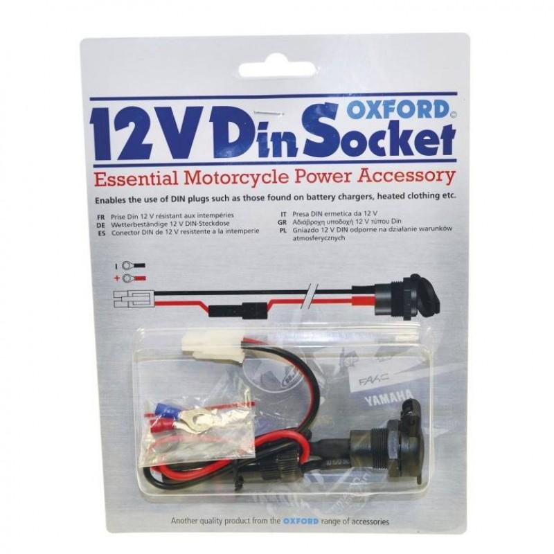 Oxford 12V SAE/Din socket & 10A fused loom