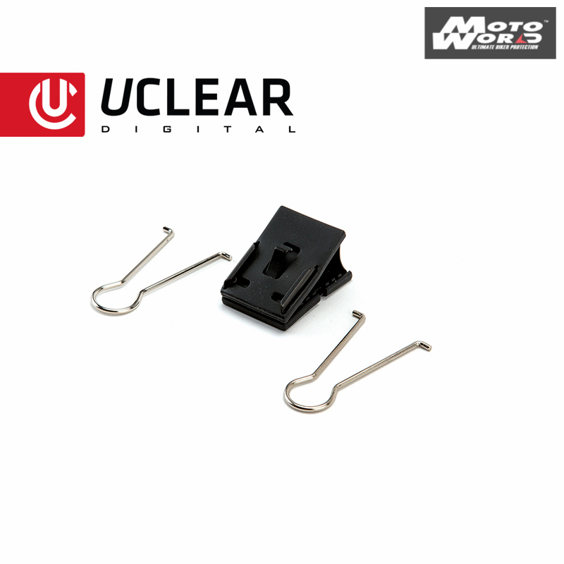 UCLEAR Temporary Mounting Clip For Bluetooth Helmet Audio Systems