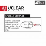 UCLEAR Boost Pro Microphone – Helmet Speaker Set For Bluetooth Headset Series